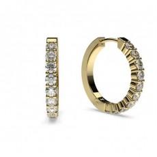 White Gold Round Diamond Hoop Earring - CLER40_01