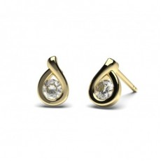 Yellow Gold Stud Diamond Earrings