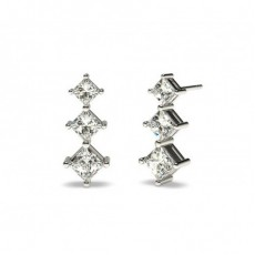 Princess Silver Drop Earrings