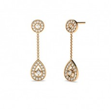White Gold Round Diamond Drop Earring - CLER66_01