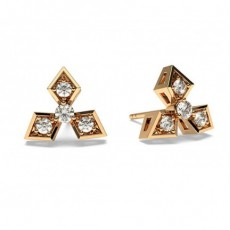 Rose Gold Designer Diamond Earrings