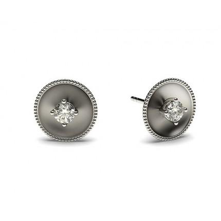 Runde Petite Diamantohrhänger in einer 4 Krappenfassung