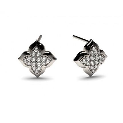 Runde Petite Diamantohrhänger in einer Pavefassung