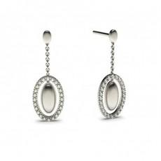 Boucles d'oreilles délicates diamant rond serti griffes 0.30ct - CLER82_01