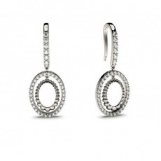 White Gold Round Diamond Delicate Earring - CLER83_01