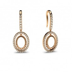 Chutes De Diamants en or Rose