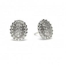 Diamant Cluster Ohrringe rund in einer Pavefassung - CLER84_13