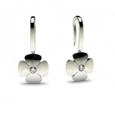 Boucles d'oreilles délicates diamant rond serti clos 0.10ct - CLER85_02