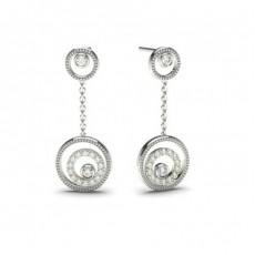 Boucles d'oreilles délicates diamant rond serti clos et pavé 0.25ct - CLER87_02