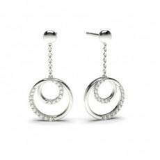 Boucles d'oreilles délicates diamant rond serti griffes 0.15ct - CLER87_01