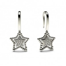 Boucles d'oreilles délicates diamant rond serti clos et pavé 0.25ct - CLER88_01