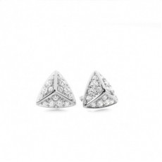 Prong Setting Round Diamond Designer Stud Earrings - CLER105_01