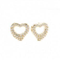 Prong Setting Round Diamond Cluster Earrings - CLER111_01