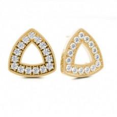 Boucles d'oreilles tendance diamant rond serti pavé 1.06ct - CLER114_01