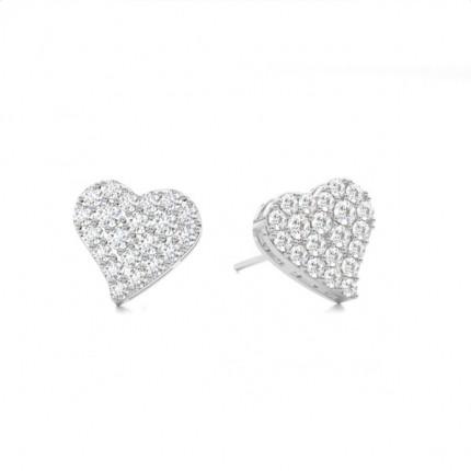 Diamant Cluster Ohrringe rund in einer Krappenfassung