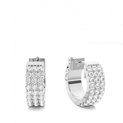 Runde Diamant Creolen in einer Illusion