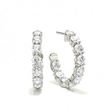 Prong Setting Round Diamond Drop Earrings (Available in 1.08ct.)