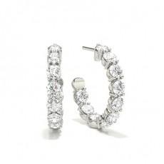 Boucles d'oreilles chute de diamants rond serti griffes 1.08ct - CLER167_01