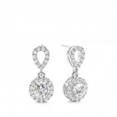 4 Prong Setting Halo Stud Earring (Available in 0.50ct.)
