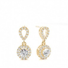 4 Prong Setting Halo Stud Earring - CLER173_01