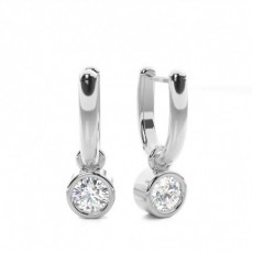 Boucles d'oreilles chute de diamants ronds serti clos 0.80ct - CLER175_01