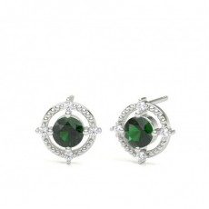 4 Prong Setting Gemstone Designer Stud Earrings