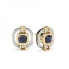 Yellow Gold Gemstone Earrings