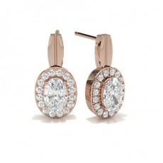 Rose Gold Halo Earrings