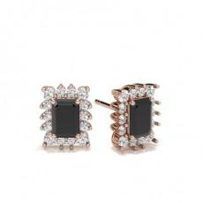 Rose Gold Black Diamond Earrings