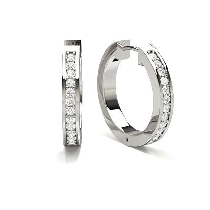 Runde Diamant Creolen in einer Pavéfassung