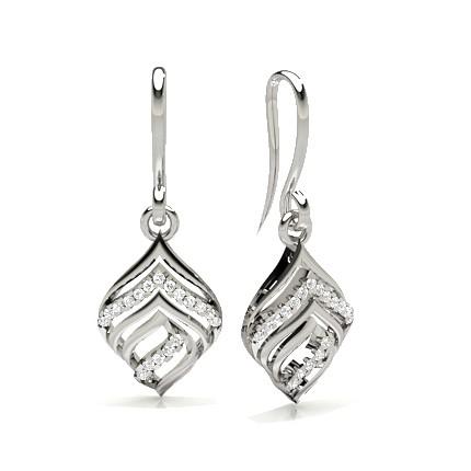 Runde Diamant Designer Ohrrringe in einer Krappenfassung
