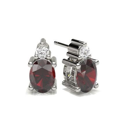 4 Prong Setting Ruby Stud Earring