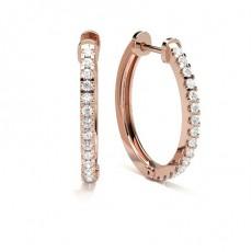 Rose Gold Hoops Earrings