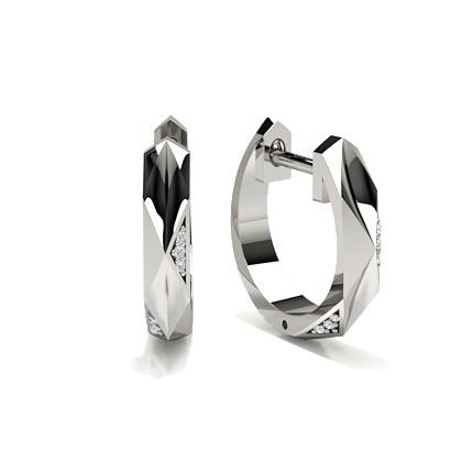 Runde Diamant Creolen in einer Krappenfassung
