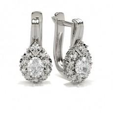 Oval Silver Hoops Earrings