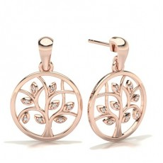 Rose Gold Designer Earrings