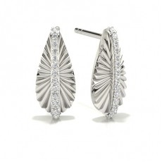 Platinum Designer Diamond Earrings