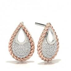 Rose Gold Designer Diamond Earrings