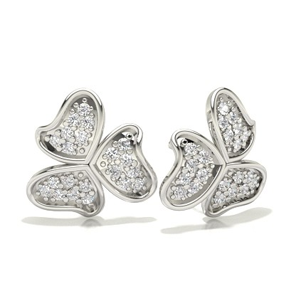 Pave Setting Diamond Designer Earrings