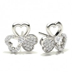 Silber Diamant Designer Ohrringe