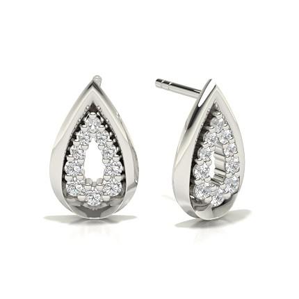 Pavéfassung Diamant Designer Ohrringe