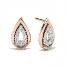 Rotgold Diamant Designer Ohrringe