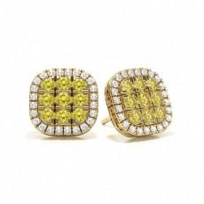 Yellow Gold Yellow Diamond Earrings