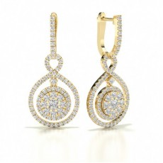 Gelbgold Versandbereite Diamant Ohrringe