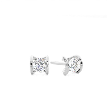 White Gold Designer Diamond Earrings