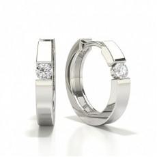 Boucle d'oreille en diamant sertie de diamants
