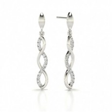 Round Designer Diamond Earrings