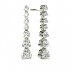 Platinum Journey Diamond Earrings