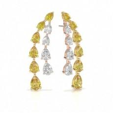 Pear Rose Gold Designer Earrings
