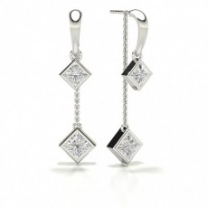 Princess Designer Diamond Earrings